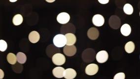 Красивое bokeh в ночи Белое bokeh светов faity акции видеоматериалы