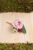 Красивое bonbonniere цветка свадьбы Стоковое фото RF