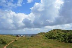 Красивое cloudscape на Helgoland Стоковое Изображение RF