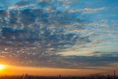 Красивое cloudscape утра Стоковое Изображение