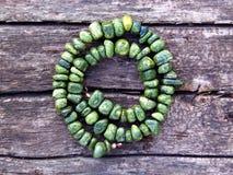 Красивое handmade ожерелье змейчатого камня Стоковое Изображение