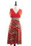 Красивое handmade платье на manequin Стоковое фото RF