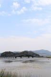 Красивое lakeview в графстве puzhehei, Юньнань, фарфоре Стоковая Фотография