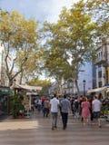 Красивое Las Ramblas, Испания Стоковые Фотографии RF