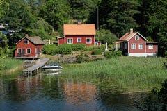 Красивое livingspace в countryhaus стоковые изображения rf