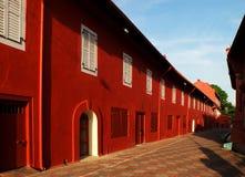Красивое Melaka - Малайзия поистине Азия - красные дома Стоковая Фотография RF