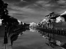 Красивое Melaka - Малайзия поистине Азия - речной берег Стоковые Изображения RF