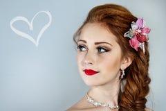 Красивое modell с косой волос Стоковое Фото