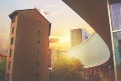 Красивое multi покрашенное тонизированное изображение милана Стоковые Изображения RF
