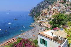 Красивое Positano Стоковые Изображения