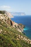 Красивое seacost на Франции Стоковые Изображения RF