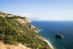 Красивое seacost на Франции Стоковое Изображение RF