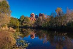 Красивое Sedona Аризона на солнечный день осени Стоковые Фотографии RF