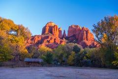 Красивое Sedona Аризона на солнечный день осени Стоковое фото RF