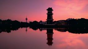 Красивое timelapse восхода солнца около реки Малайзии Kedah акции видеоматериалы