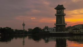 Красивое timelapse восхода солнца около реки Малайзии Kedah сток-видео