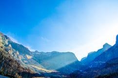 Красивое walley в горах Changbai в фарфоре Стоковые Изображения RF