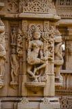 Красиво высекл идолы, Jain висок, расположенный в комплекс форта, Jaisalmer, Раджастхан, Индия стоковые изображения