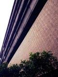 Красиво конструированное золотое кирпичное здание Стоковые Изображения RF