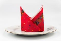 Красиво положите салфетку для праздничного плана таблицы Стоковые Фото