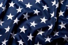 Красиво развевая звезды конца американского флага вверх по предпосылке стоковые изображения