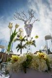 Красиво украшенное Wedding место стоковое изображение