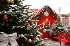 Красиво украшенные рождественские елки стоковая фотография