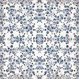 Красивые абстрактные цветки на белом влиянии grunge предпосылки vector иллюстрация Стоковые Фотографии RF