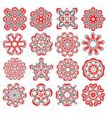 Красивые абстрактные элементы цветка Стоковая Фотография