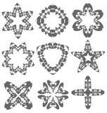 Красивые абстрактные элементы цветка Стоковые Фотографии RF