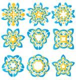 Красивые абстрактные элементы цветка Стоковое Изображение