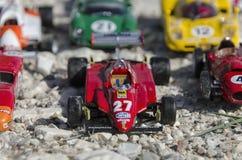 Красивые автомобили формулы на солнце Стоковое Изображение
