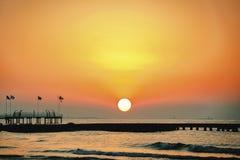 Красивые ландшафты от моря Стоковое фото RF