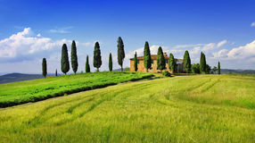 Красивые ландшафты Тосканы Италия Стоковое фото RF