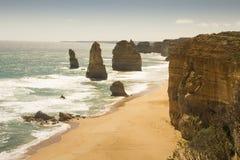 Красивые апостолы вида с воздуха 12 переносят национальный парк Викторию Австралию Campbell славную Стоковое Изображение