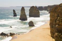 Красивые апостолы вида с воздуха 12 переносят национальный парк Викторию Австралию Campbell славную Стоковое Фото