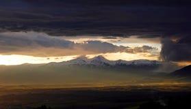 Красивые армянские горы стоковые фотографии rf