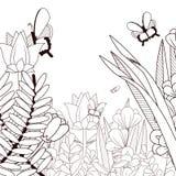 Красивые бабочки летая на природу бесплатная иллюстрация