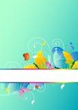 Красивые бабочки цвета, на сини Стоковые Изображения RF