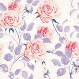 Красивые безшовные обои с цветками на белой предпосылке Иллюстрация вектора элегантности флористическая Бесплатная Иллюстрация