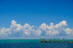 Красивые бирюза и открытые моря стороны o побережья мексиканского залива стоковая фотография rf