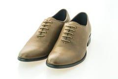 Красивые ботинки людей элегантности и роскоши кожаные коричневые Стоковые Фото