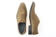 Красивые ботинки людей элегантности и роскоши кожаные коричневые Стоковые Фотографии RF