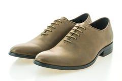 Красивые ботинки людей элегантности и роскоши кожаные коричневые Стоковые Изображения