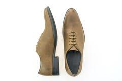 Красивые ботинки людей элегантности и роскоши кожаные коричневые Стоковые Изображения RF