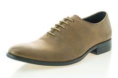 Красивые ботинки людей элегантности и роскоши кожаные коричневые Стоковое Изображение