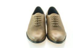 Красивые ботинки людей элегантности и роскоши кожаные коричневые Стоковая Фотография RF