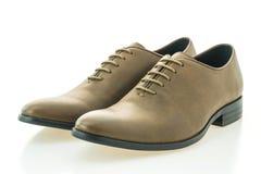 Красивые ботинки людей элегантности и роскоши кожаные коричневые Стоковое Изображение RF