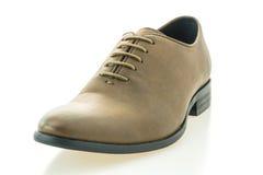 Красивые ботинки людей элегантности и роскоши кожаные коричневые Стоковая Фотография