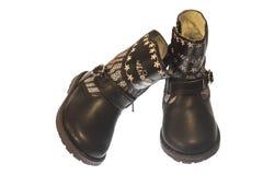 Красивые ботинки для маленькой девочки Стоковая Фотография RF